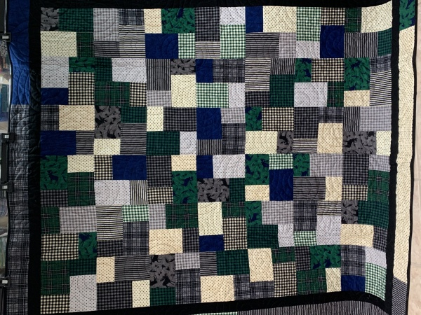 Manly Flannel donation quilt.
